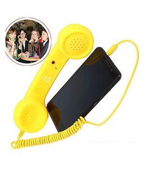 Obrázek Retro sluchátko na mobil - žluté