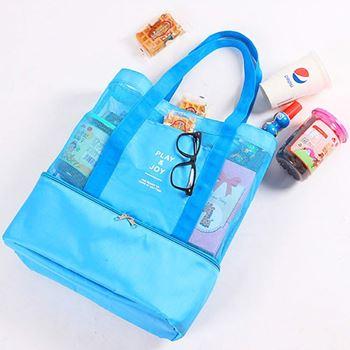 Obrázek Plážová taška s termo přihrádkou - modrá