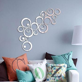 Obrázek Nálepky na zeď/zrcadlo - kruhy
