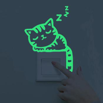 Obrázek Svítící nálepky nad vypínač - kočička