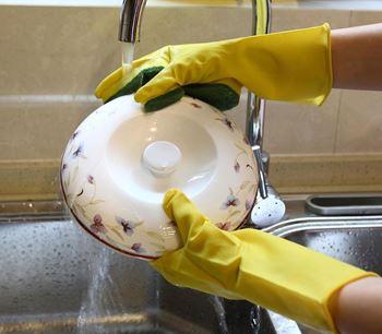 Obrázek Rukavice na nádobí s houbičkou
