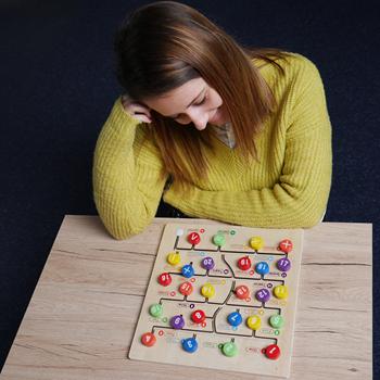 Obrázek Dřevěný labyrint s čísly