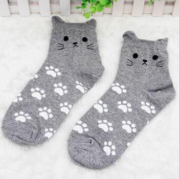 Obrázek Kočičí ponožky - šedé