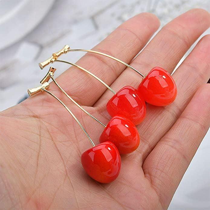Ovocné náušnice - třešně