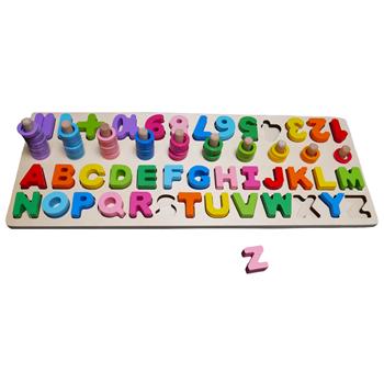 Obrázek Dřevěná abeceda s čísly