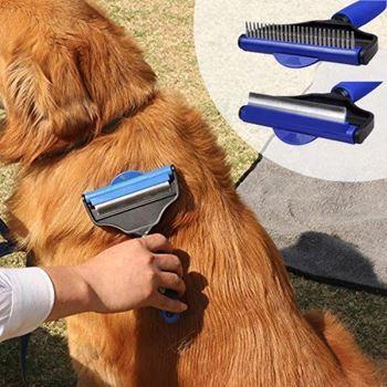 Obrázek Hrablo pro psy s otočnou hlavou 2v1 - velikost M