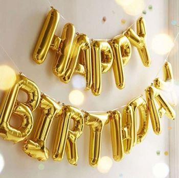 Obrázek Narozeninové balónky - zlaté