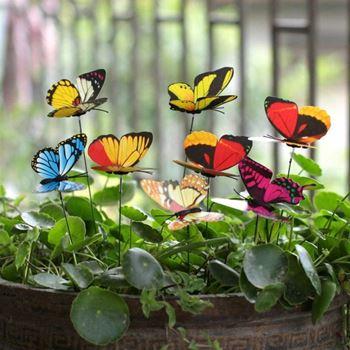 Obrázek Zápich do květináče 24 ks - motýl