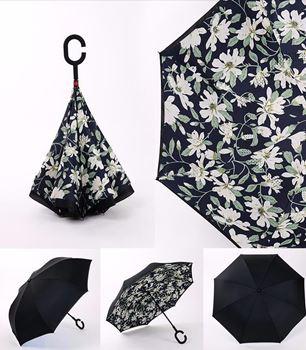 Obrázek Obrácený deštník - bílé květy