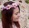 Obrázek z Květinová čelenka - růžová