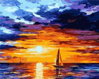Obrázek Malování podle čísel - západ slunce