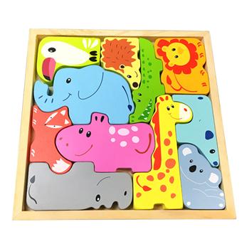 Obrázek Dřevěné puzzle - zvířátka