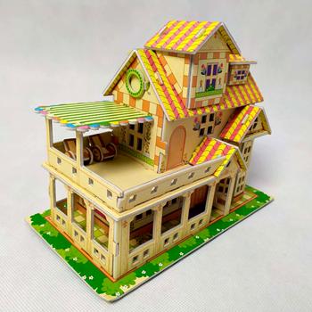 Obrázek 3D puzzle pro děti dům - bílý