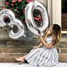 Obrázek z Nafukovací balónky čísla maxi stříbrné - 0