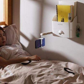 Obrázek Nástěnný organizér s držákem na telefon - bílý
