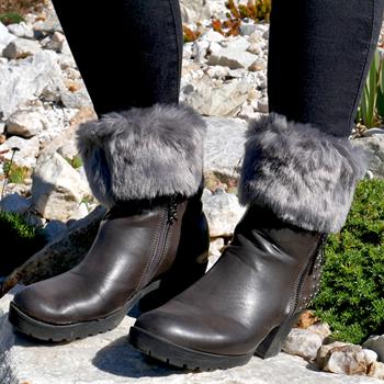 Obrázek Návleky na nohy - šedé
