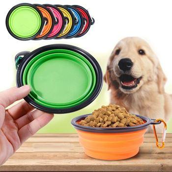 Obrázek Skládací silikonová miska pro zvířata