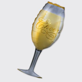 Obrázek Fóliový balónek - sektová sklenička