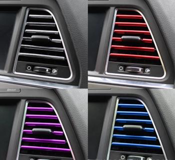 Obrázek z Dekorační lišty na ventilační mřížku auta - stříbrná