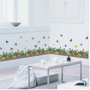 Obrázek z Nálepky na okno - barevné kytičky