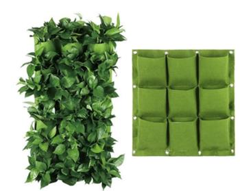 Obrázek Závěsné textilní květináče - 9 kapes