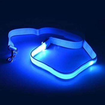 Obrázek Textilní svítící vodítko - modré
