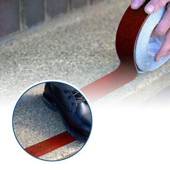 Obrázek Protiskluzové samolepící pásky - červené