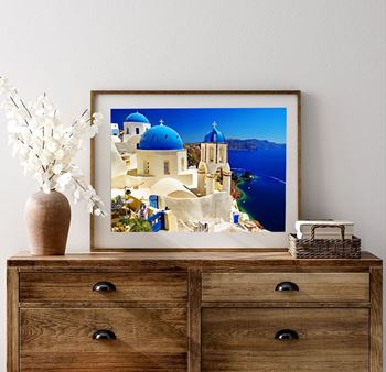Obrázek Diamantové malování s rámem - Santorini