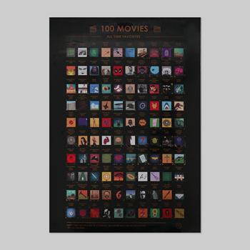 Obrázek Stírací plakát - 100 filmů, které musíte vidět