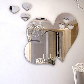 Obrázek Nalepovací zrcadlo - srdce