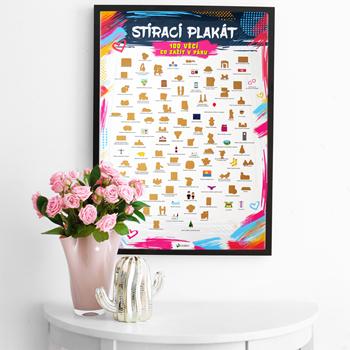 Obrázek Stírací plakát - 100 věcí co zažít v páru