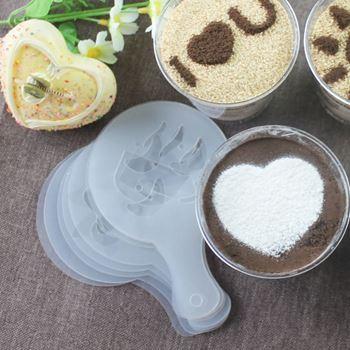 Obrázek Šablony na zdobení kávy