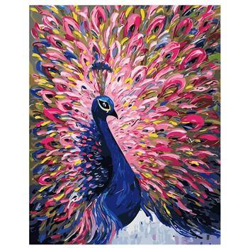Obrázek Malování podle čísel - páv