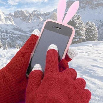 Obrázek Rukavice pro smartphony - bordó