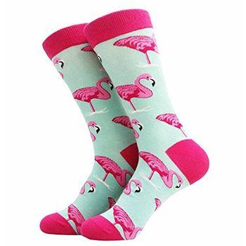 Obrázek Veselé ponožky - plameňáci