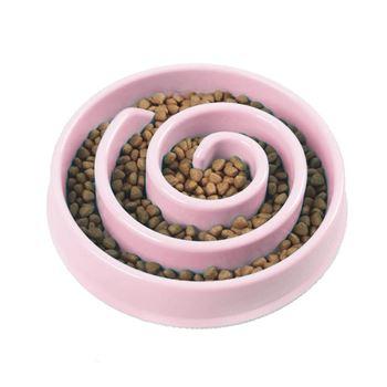 Obrázek Miska pro pomalé krmení - růžová