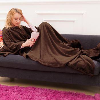 Obrázek Televizní deka - hnědá
