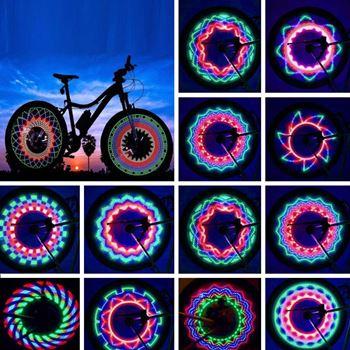 Obrázek LED světlo do výpletu kola