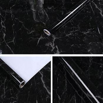 Obrázek Tapeta - černý mramor 100cm