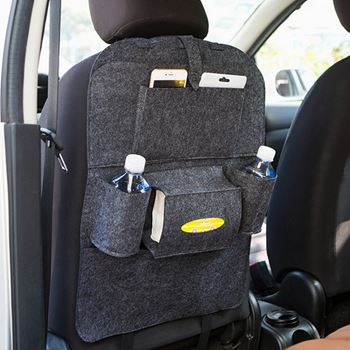 Obrázek Pořadač na sedačku do auta - tmavě šedý