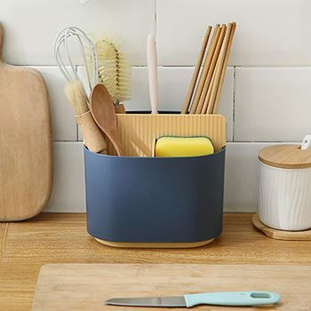 Obrázek Pořadač do kuchyně/koupelny - modrožlutý