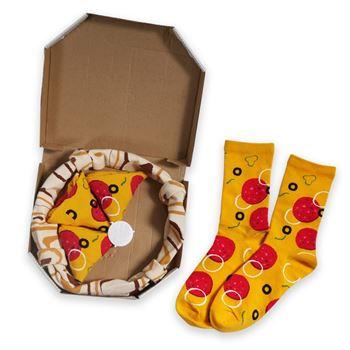 Obrázek Sada 4 párů ponožek - pizza