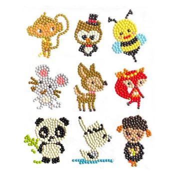 Obrázek Diamantové malování pro děti samolepky - mix zvířátek