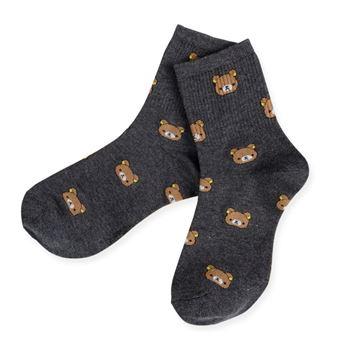 Obrázek Ponožky s medvídky - šedé