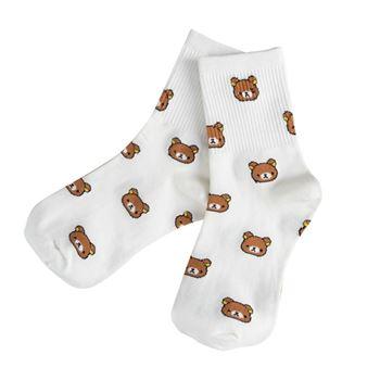 Obrázek Ponožky s medvídky - bílé