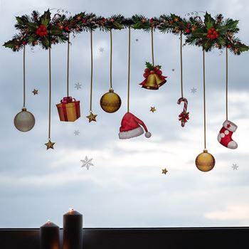 Obrázek Vánoční nálepky na okno - girlanda